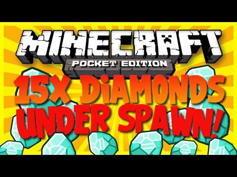 [0.10.4] 15X Diamonds Under Spawn! | Minecraft Pocket Edition