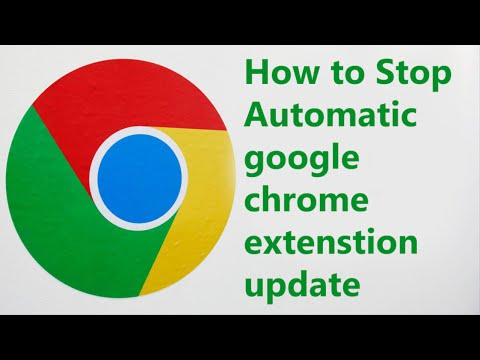 How to stop automatically chrome extension update 100% true
