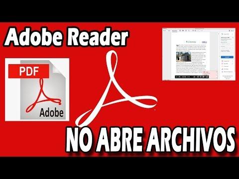 ERROR AL ABRIR PDF CON ADOBE READER (SOLUCION) | TUTORIAL
