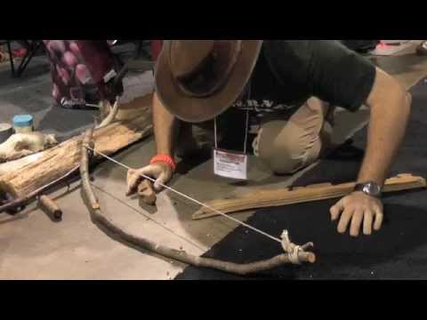 How to start a fire with a bow drill