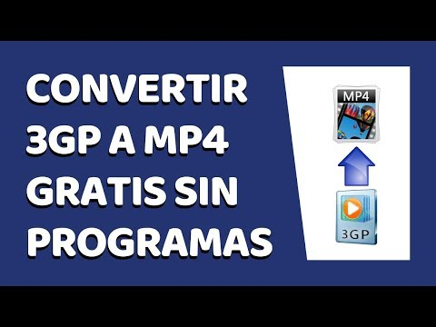 Cómo Convertir Un Vídeo 3GP a MP4 Sin Programas 2018 | Cómo Editar Videos 2018