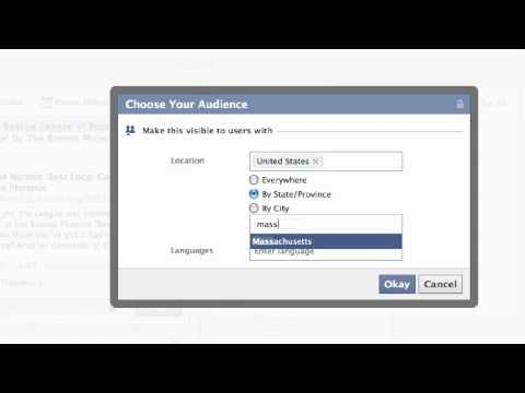 How to Target Updates on Your Facebook Page Timeline