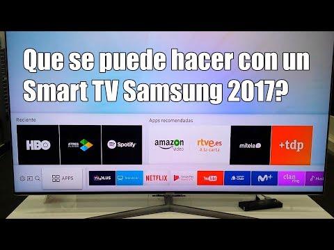 Que se puede hacer con un Smart TV Samsung 2017?