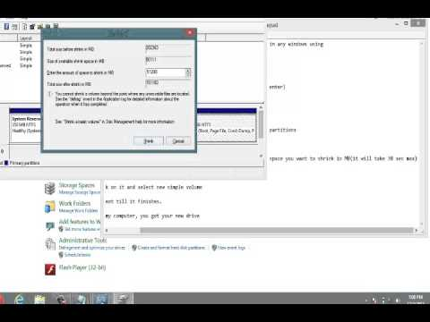 WINDOWS 8.1:-HOW TO DO PARTITION OF DISK/DRIVE IN WINDOWS 8.1 AND WINDOWS 8