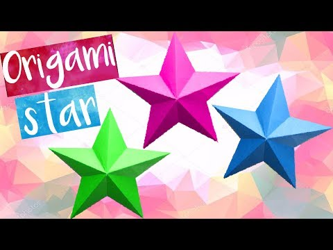 Paper Star | How to Make Easy Origami Stars -DIY-Paper Crafts -3D-Easy Star Tutorials. for Beginners