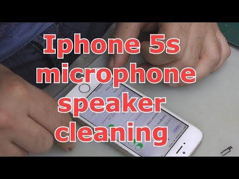 iphone 5s microphone speaker cleaning