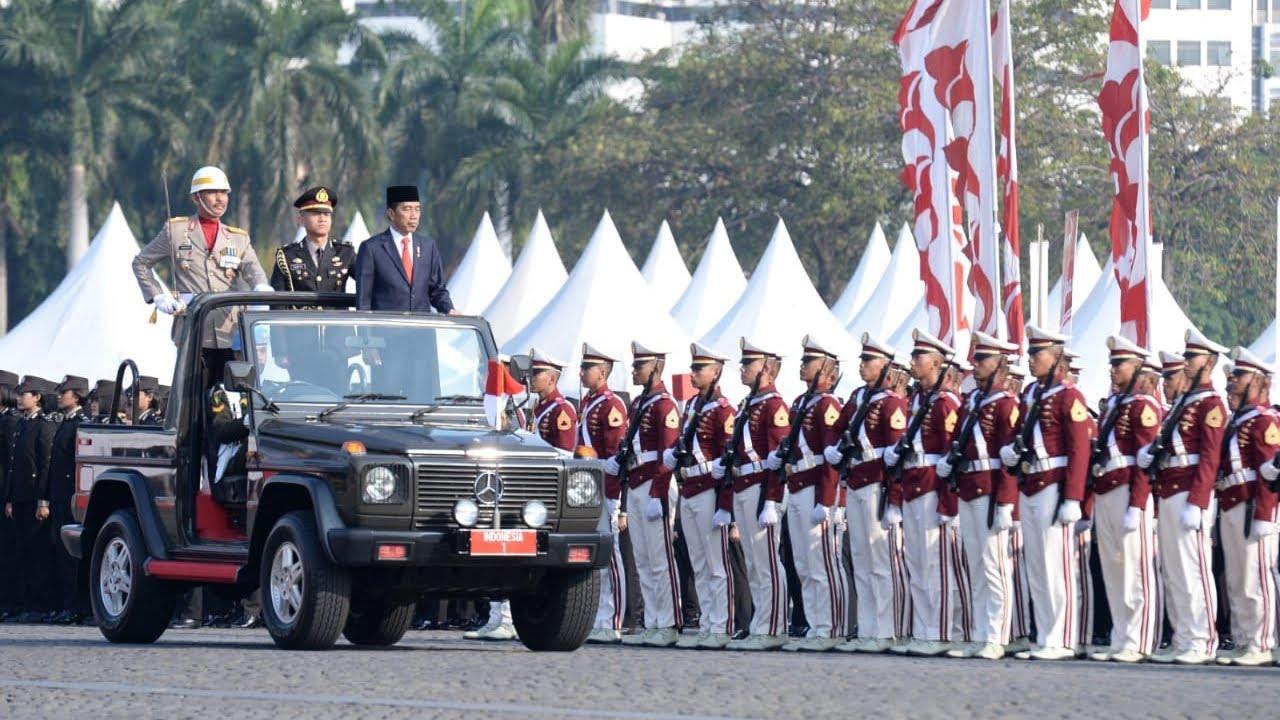 Presiden Jokowi Pimpin Upacara Peringatan ke-73 Hari Bhayangkara, Jakarta, 10 Juli 2019