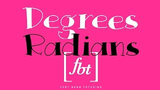 Converting Degrees To Radians Fbt