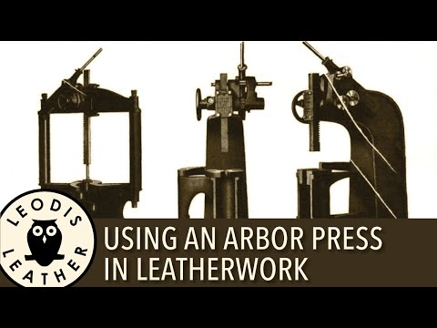 Arbor Press for Leather and Kydex Work