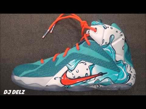 innovative design 0cd5d 3b9da Nike LeBron 12 XII Water Buckets Clearwater Blue Lagoon Sneaker Review