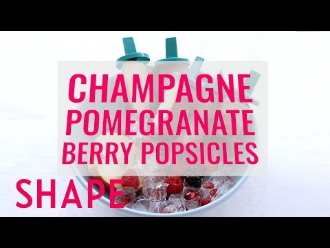 Champagne Pomegranate Berry Popsicles | Shape