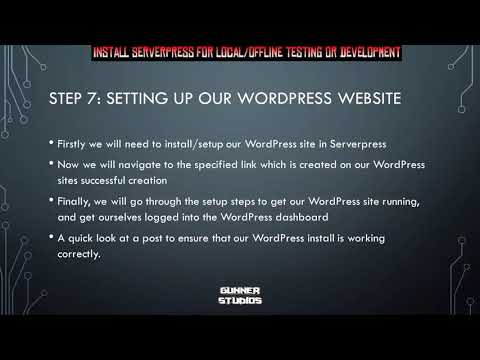 How To Install WordPress Locally for offline Development in ServerPress