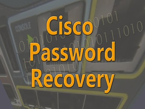 Recover Lost Cisco Password (Example uses a Cisco Catalyst 3560-CG)