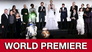 Star Wars The Force Awakens World Premiere Presentation & Red Carpet - Harrison Ford & Cast