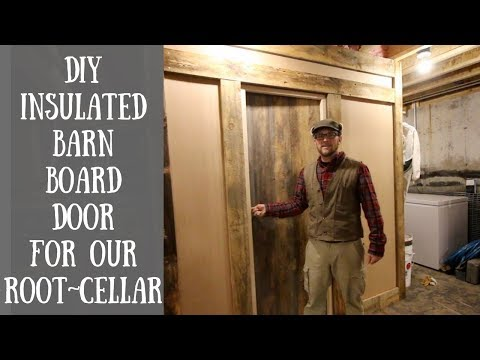 Installing our DIY Insulated Barn Board Door on our Root Cellar