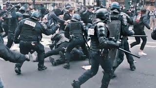 Riots in Paris - Crazy!