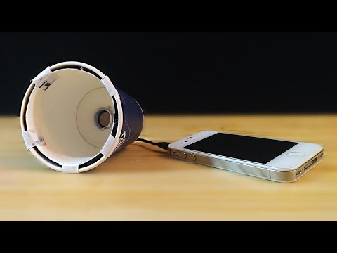 How to make a speaker at home out of paper cups