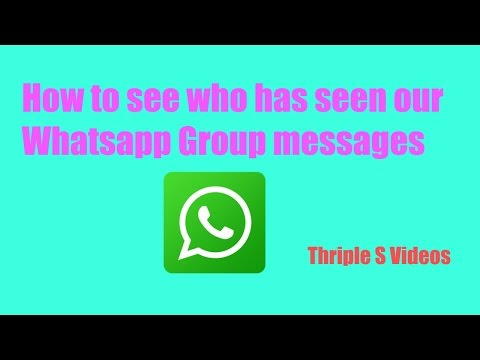 Whatsapp Tips:How to see who has read our messages in a group.Telugu Video by Thriple S