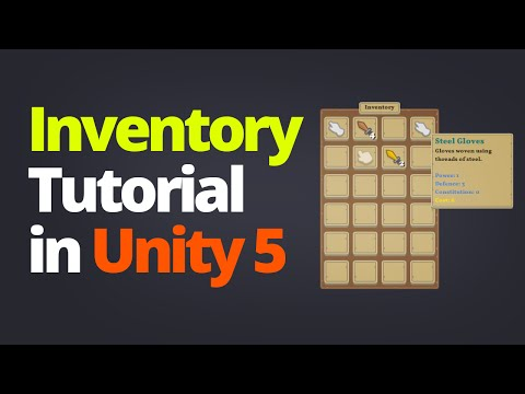 Inventory System Tutorial in Unity 5 - PART 1