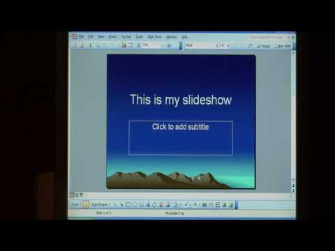 Computer Skills & Shortcuts : How to Run a PowerPoint Slide Show