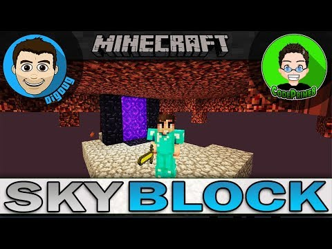 Let's Play Minecraft Skyblock Nether Portal Exploring the Nether in Minecraft with CodePrime8