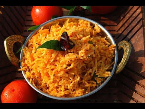Tomato rice | Thakkali sadam-Tamil nadu style