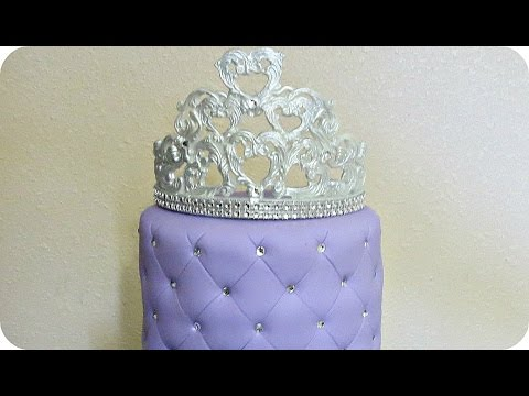 How to make a fondant Crown topper from molded pieces