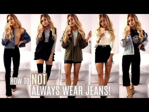 How To NOT ALWAYS Wear Jeans This Autumn / Fall Outfit Ideas 2017