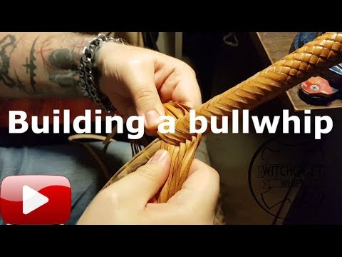 Making a Bullwhip - Preparing the strands and plaiting the overlay