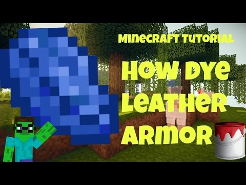Minecraft Tutorial - How to Make Colored Armor