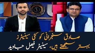 Faisal Javed says many senators think Sanjrani as better option