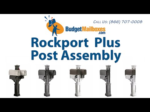 BudgetMailboxes.com | Mayne Post | Rockport Mail Post Assembly