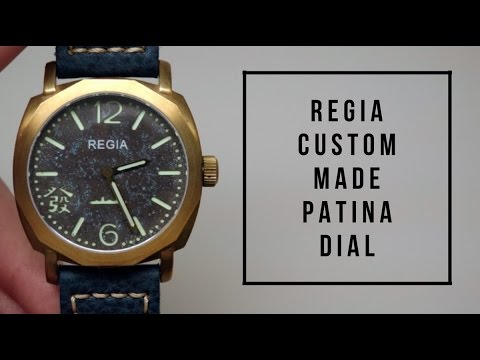 REGIA GALAXY CUSTOM MADE PATINA DIAL LE MENS WATCH REVIEW