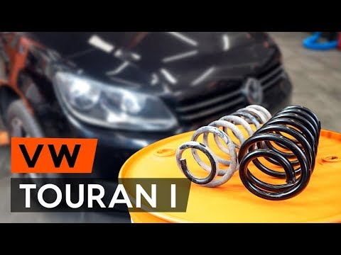 How to replace front springs onVW TOURAN 1 (1T3) [TUTORIAL AUTODOC]