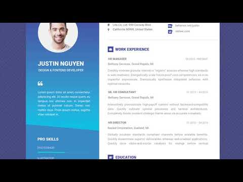 Free Professional Resume Template - Contemporary Blue