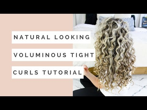 Natural Looking Voluminous Tight Curls Hair Tutorial