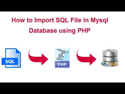 How to Import SQL File in Mysql Database using PHP