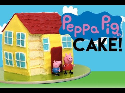 Peppa Pig CAKE | How to Make a Peppa Pig House Cake | My Cupcake Addiction