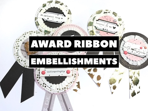 Award Ribbon Embellishments Process.🐌✉️