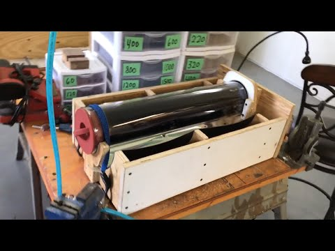 Making a cradle for Rand solar oven