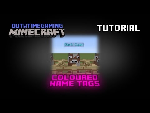 Coloured Name Tags (CU7/TU19) - Minecraft Playstation/XBox [Tutorial]