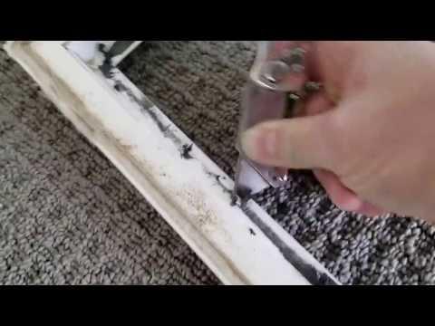 How to replace broken vinyl window glass