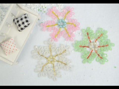 How to Make Beaded Snowflake Christmas Ornament