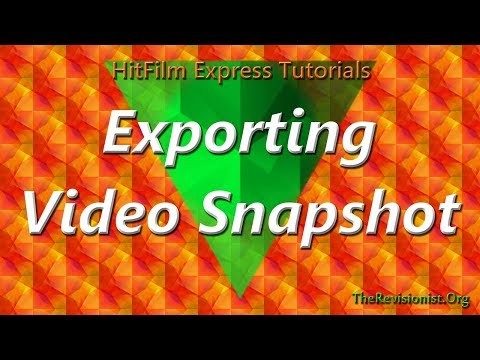 How to Export a Single Frame Screen Shot from a Video Clip Hitfilm Express