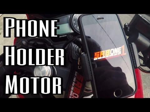 Phone Holder Motor di Stang Jepit/Clip On!