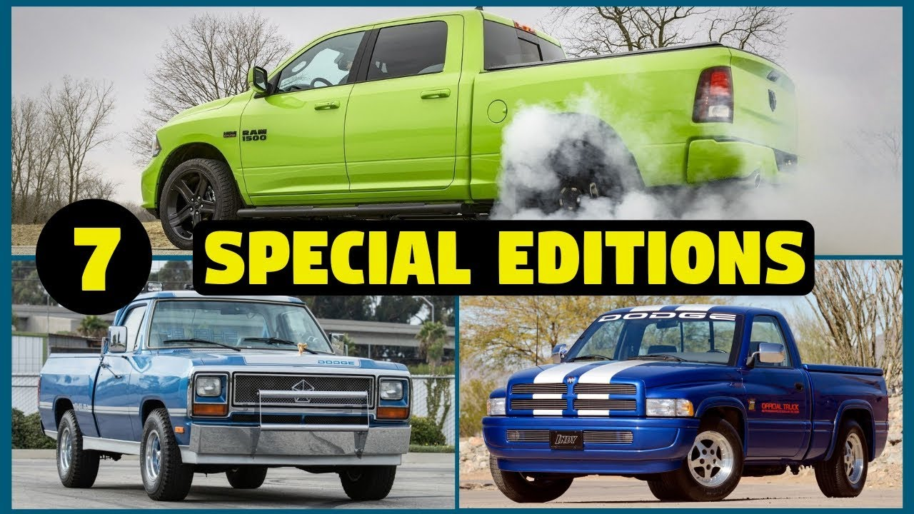 7 Special & Limited Edition Dodge Ram 1500 Pickup Trucks – PART 2!