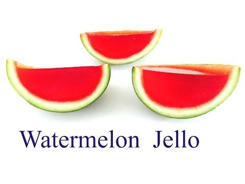 Gummy jello watermelon slices
