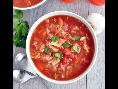 Slow Cooker Cabbage Tomato Soup