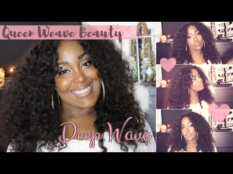 Most Natural Curly Weave EVER!! Queen Weave Beauty LTD: Brazilian Deep Wave