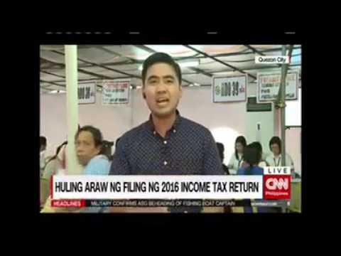 Huling araw ng filing ng 2016 Income Tax Return